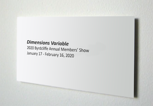Dimensions Variable